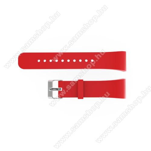 SAMSUNG Gear Fit 2 Pro (SM-R365)Okosóra szíj - PIROS - szilikon, 20cm hosszú és 2cm széles - SAMSUNG Gear Fit 2 SM-R360 / Samsung Gear Fit 2 Pro SM-R365 - 128.29mm + 72.07mm hosszú