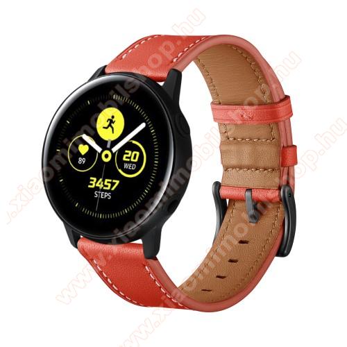 Xiaomi Amazfit GTR 42mmOkosóra szíj - PIROS - valódi bőr - 80mm + 120mm hosszú, 20mm széles - SAMSUNG Galaxy Watch 42mm / Xiaomi Amazfit GTS / HUAWEI Watch GT / SAMSUNG Gear S2 / HUAWEI Watch GT 2 42mm / Galaxy Watch Active / Active 2