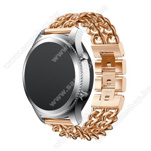 SAMSUNG Galaxy Watch 46mm (SM-R800NZ)Okosóra szíj - ROSE GOLD - rozsdamentes acél, csatos - SAMSUNG Galaxy Watch 46mm / SAMSUNG Gear S3 Classic / SAMSUNG Gear S3 Frontier
