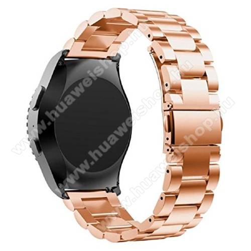 HUAWEI Watch 2Okosóra szíj - ROSE GOLD - rozsdamentes acél, csatos - HUAWEI Watch 2