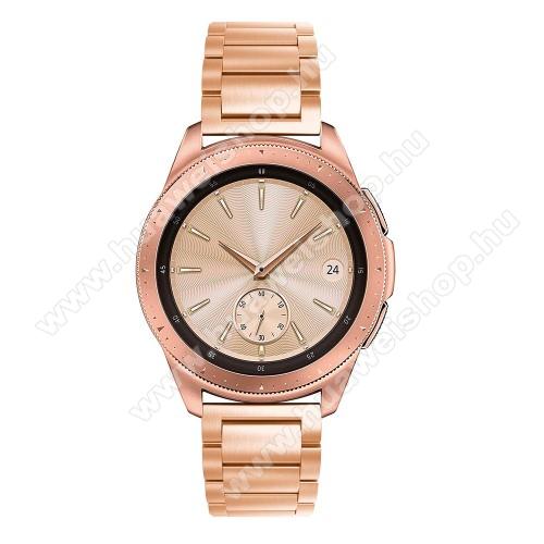 HUAWEI Watch GT 2 42mmOkosóra szíj - ROSE GOLD - rozsdamentes acél, pillangó csat, 175mm hosszú, 20mm széles, max 205mm-es csuklóra - SAMSUNG Galaxy Watch 42mm / HUAWEI Watch GT 2 42mm