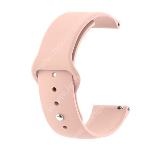 HUAWEI Watch GT 2 42mm Okosóra szíj - ROSE GOLD - szilikon - 85mm + 95mm hosszú, 20mm széles - SAMSUNG Galaxy Watch 42mm / Xiaomi Amazfit GTS / SAMSUNG Gear S2 / HUAWEI Watch GT 2 42mm / Galaxy Watch Active / Active 2