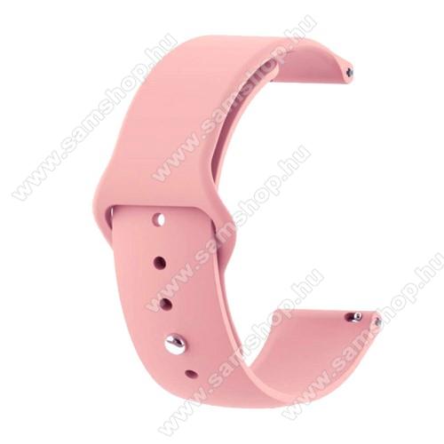 SAMSUNG SM-R600 Galaxy Gear SportOkosóra szíj - RÓZSASZÍN - szilikon - 85mm + 95mm hosszú, 20mm széles - SAMSUNG Galaxy Watch 42mm / Xiaomi Amazfit GTS / HUAWEI Watch GT / SAMSUNG Gear S2 / HUAWEI Watch GT 2 42mm / Galaxy Watch Active / Active  2 / Galaxy Gear Sport