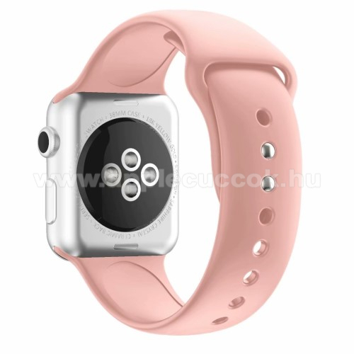 APPLE Watch Series 4 44mm Okosóra szíj - RÓZSASZÍN - szilikon - APPLE Watch Series 3/2/1 42mm / APPLE Watch Series 4 44mm