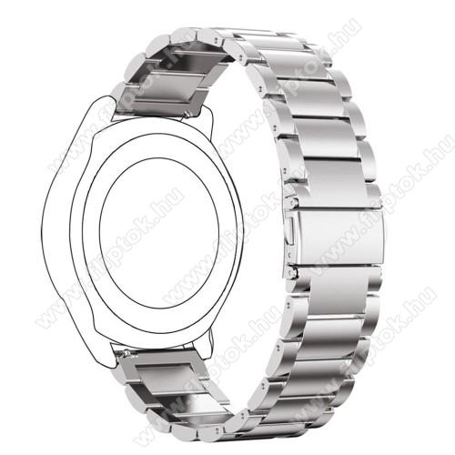 ZTE Watch GTOkosóra szíj - rozsdamentes acél, csatos - 180mm hosszú, 22mm széles - EZÜST - SAMSUNG Galaxy Watch 46mm / SAMSUNG Gear S3 Classic / SAMSUNG Gear S3 Frontier