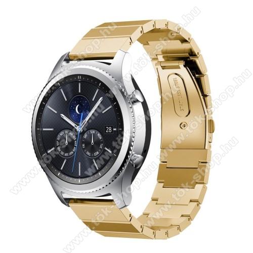 Okosóra szíj - rozsdamentes acél, csatos - ARANY - SAMSUNG Galaxy Watch 46mm / SAMSUNG Gear S3 Classic / SAMSUNG Gear S3 Frontier