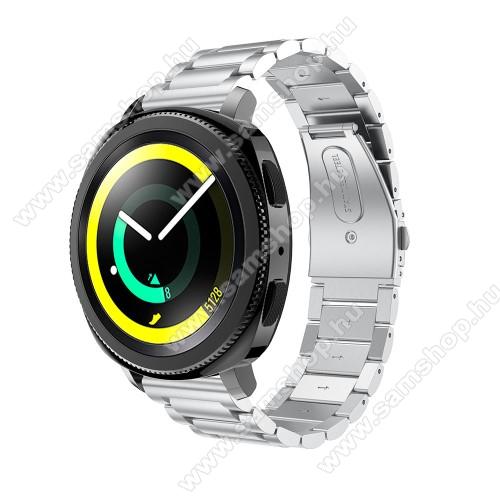 SAMSUNG SM-R600 Galaxy Gear SportOkosóra szíj - rozsdamentes acél, csatos - EZÜST - 205 mm-es csuklóig használható, 177mm hosszú, 20mm széles - SAMSUNG SM-R600 Galaxy Gear Sport