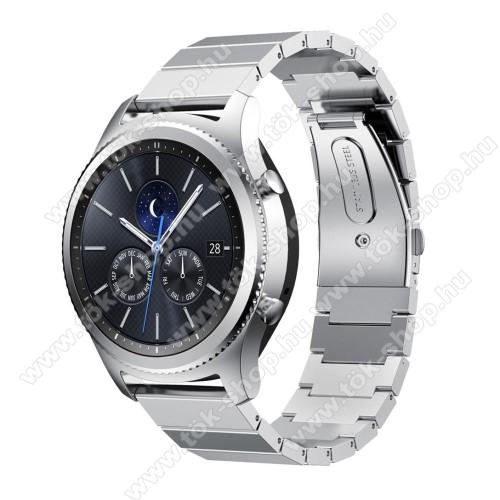Okosóra szíj - rozsdamentes acél, csatos - EZÜST - SAMSUNG Galaxy Watch 46mm / SAMSUNG Gear S3 Classic / SAMSUNG Gear S3 Frontier