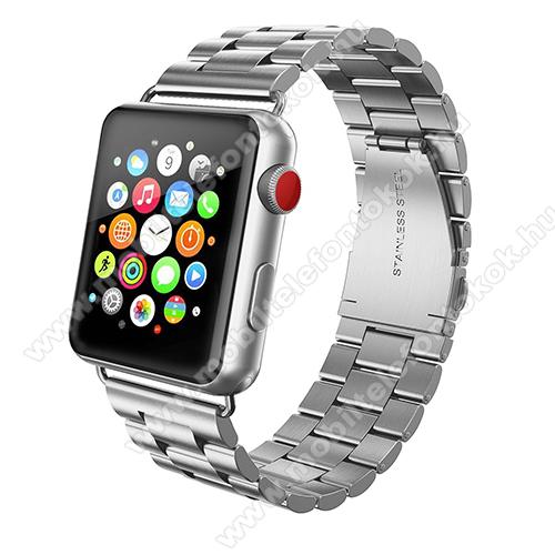 APPLE Watch Series 6 44mmOkosóra szíj - rozsdamentes acél, csatos - EZÜST - APPLE Watch Series 3/2/1 42mm / APPLE Watch Series 4 44mm / APPLE Watch Series 5 44mm
