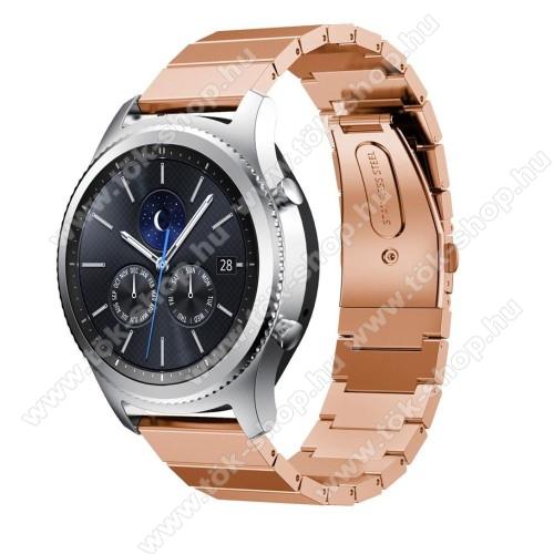 Okosóra szíj - rozsdamentes acél, csatos - ROSE GOLD - SAMSUNG Galaxy Watch 46mm / SAMSUNG Gear S3 Classic / SAMSUNG Gear S3 Frontier