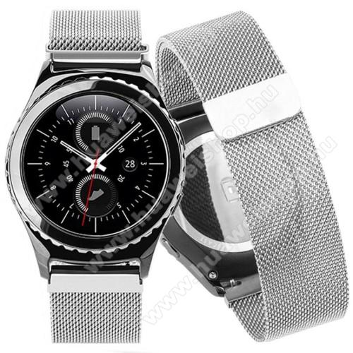 HUAWEI Watch 2Okosóra szíj - rozsdamentes acél, mágneses - EZÜST - 205mm hosszú, 20mm széles - HUAWEI Watch 2