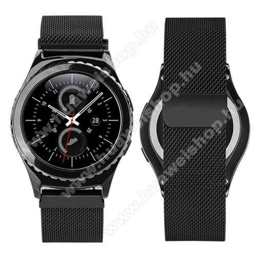 HUAWEI Watch 2Okosóra szíj - rozsdamentes acél, mágneses - FEKETE - 205mm hosszú, 20mm széles - HUAWEI Watch 2