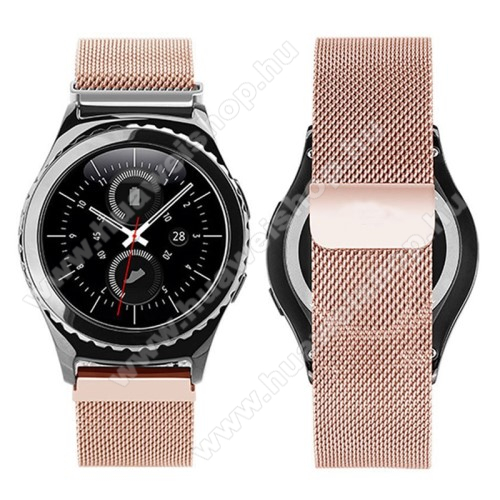HUAWEI Watch 2Okosóra szíj - rozsdamentes acél, mágneses - ROSE GOLD - 205mm hosszú, 20mm széles - HUAWEI Watch 2