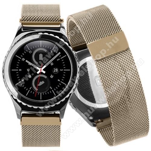 HUAWEI Watch 2Okosóra szíj - rozsdamentes acél, mágneses - PEZSGŐ ARANY - 205mm hosszú, 20mm széles - HUAWEI Watch 2