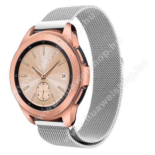 HUAWEI Watch GT 2 42mmOkosóra szíj - rozsdamentes acél, mágneses - EZÜST - 235 mm hosszú, 20 mm széles, max 225mm-es csuklóra - SAMSUNG Galaxy Watch 42mm / HUAWEI Watch GT 2 42mm