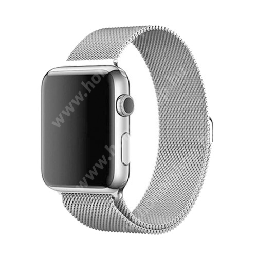 Okosóra szíj - rozsdamentes acél, mágneses - EZÜST - Apple Watch Series 3/2/1 42mm / APPLE Watch Series 4 44mm