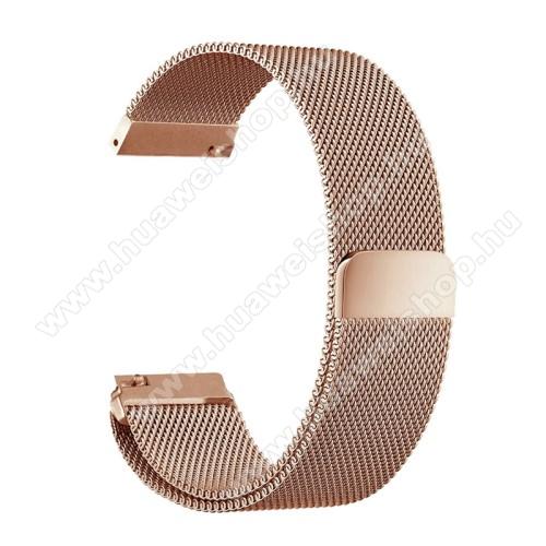 HUAWEI Watch MagicOkosóra szíj - rozsdamentes acél, mágneses - 235mm hosszú, 22mm széles - ROSE GOLD - HUAWEI Watch GT / HUAWEI Watch Magic / Watch GT 2 46mm