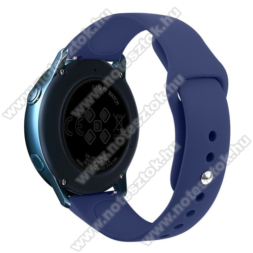 WOTCHI SmartWatch W22SOkosóra szíj - SÖTÉTKÉK - szilikon - 95mm + 130mm hosszú, 20mm széles, 170mm-től 225mm-es méretű csuklóig ajánlott - SAMSUNG Galaxy Watch 42mm / Xiaomi Amazfit GTS / SAMSUNG Gear S2 / HUAWEI Watch GT 2 42mm / Galaxy Watch Active / Active 2