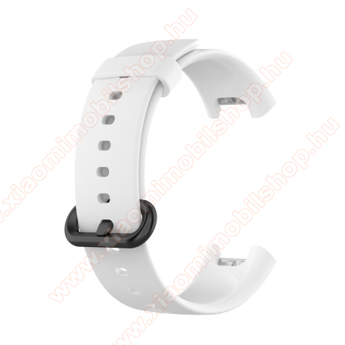 Xiaomi Redmi WatchOkosóra szíj - szilikon - 125mm + 89mm hosszú - FEHÉR - Xiaomi Mi Watch Lite / Xiaomi Redmi Watch