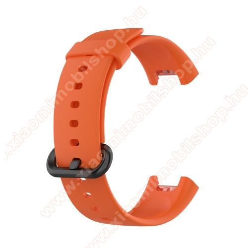 Xiaomi Redmi WatchOkosóra szíj - szilikon - 125mm + 89mm hosszú - NARANCSSÁRGA - Xiaomi Mi Watch Lite / Xiaomi Redmi Watch