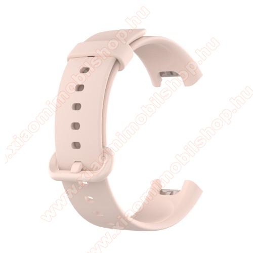 Xiaomi Redmi WatchOkosóra szíj - szilikon - 125mm + 89mm hosszú - RÓZSASZÍN - Xiaomi Mi Watch Lite / Xiaomi Redmi Watch