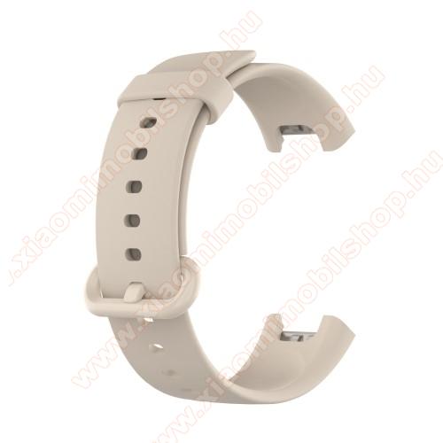 Xiaomi Redmi WatchOkosóra szíj - szilikon - 125mm + 89mm hosszú - SZÜRKE - Xiaomi Mi Watch Lite / Xiaomi Redmi Watch
