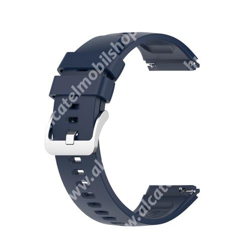 Okosóra szíj - szilikon - 22mm széles - ÉJKÉK - HUAWEI Watch GT 2e