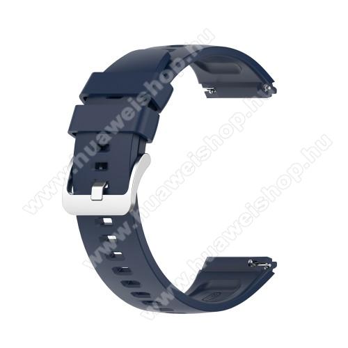 HUAWEI Watch GT 2eOkosóra szíj - szilikon - 22mm széles - ÉJKÉK - HUAWEI Watch GT 2e