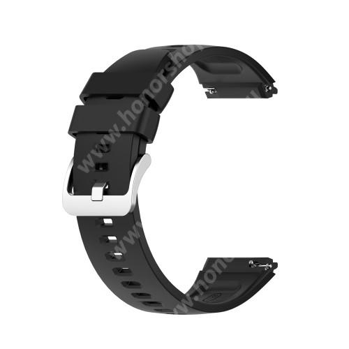 HUAWEI Watch GT 2e Okosóra szíj - szilikon - 22mm széles - FEKETE - HUAWEI Watch GT 2e