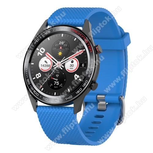 ZTE Watch GTOkosóra szíj - szilikon, rombusz mintás - VILÁGOSKÉK - 218mm hosszú, 22mm széles - HUAWEI Watch GT / HUAWEI Watch Magic / MagicWatch 2 46mm / Watch GT 2 46mm