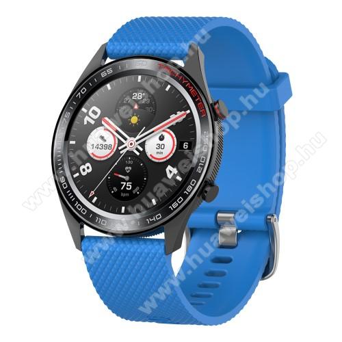 HUAWEI Watch MagicOkosóra szíj - szilikon, rombusz mintás - VILÁGOSKÉK - 218mm hosszú, 22mm széles - HUAWEI Watch GT / HUAWEI Watch Magic / MagicWatch 2 46mm / Watch GT 2 46mm