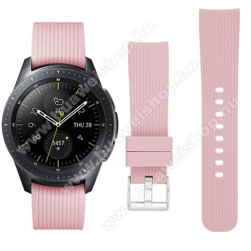 HUAWEI Watch GT 2 42mmOkosóra szíj - szilikon - RÓZSASZÍN - SAMSUNG Galaxy Watch 42mm / HUAWEI Watch GT 2 42mm