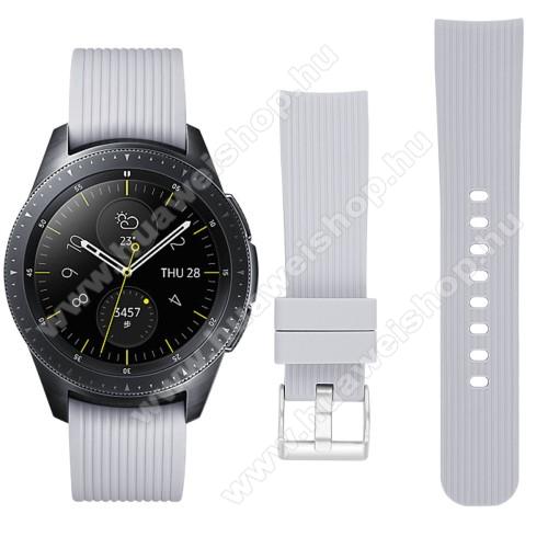 HUAWEI Watch GT 2 42mmOkosóra szíj - szilikon - SZÜRKE - SAMSUNG Galaxy Watch 42mm / HUAWEI Watch GT 2 42mm