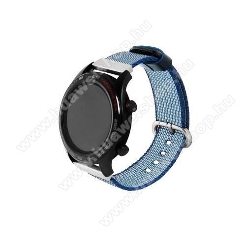 HUAWEI Watch 2 ProOkosóra szíj - szövet - KÉK - 113mm + 81mm hosszú, 20mm széles - HUAWEI Watch GT / HUAWEI Watch Magic / Watch GT 2 46mm