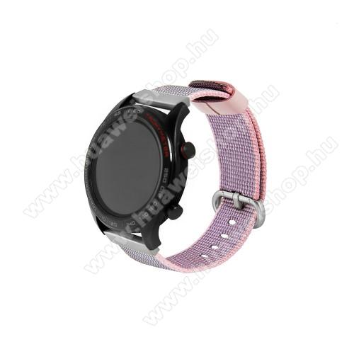 HUAWEI Watch 2 ProOkosóra szíj - szövet - LILA - 113mm + 81mm hosszú, 20mm széles - HUAWEI Watch GT / HUAWEI Watch Magic / Watch GT 2 46mm
