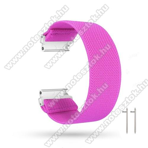 ZTE Watch GTOkosóra szíj - szövet, sztreccses, 145mm hosszú, 22mm széles, 160mm-től 210mm-es méretű csuklóig ajánlott - MAGENTA - SAMSUNG Galaxy Watch 46mm / Watch GT2 46mm / Watch GT 2e / Gear S3 Frontier / Honor MagicWatch 2 46mm
