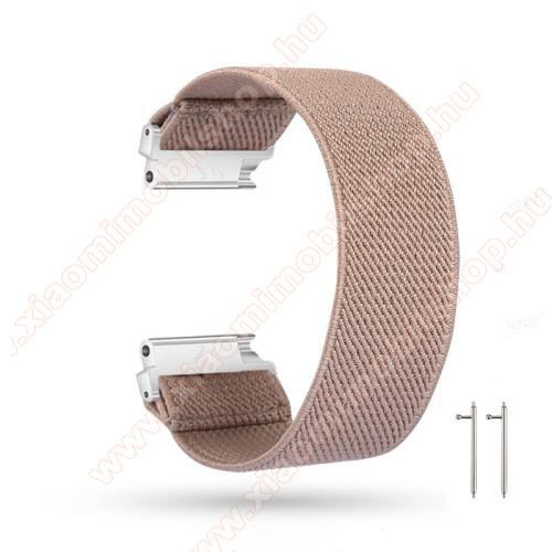 Xiaomi Amazfit 2Okosóra szíj - szövet, sztreccses, 145mm hosszú, 22mm széles, 160mm-től 210mm-es méretű csuklóig ajánlott - KHAKI - SAMSUNG Galaxy Watch 46mm / Watch GT2 46mm / Watch GT 2e / Gear S3 Frontier / Honor MagicWatch 2 46mm