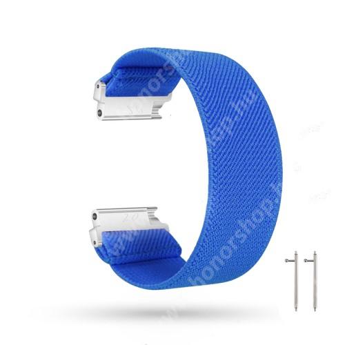 HUAWEI Watch GT 2 46mm Okosóra szíj - szövet, sztreccses, 145mm hosszú, 22mm széles, 160mm-től 210mm-es méretű csuklóig ajánlott - SÖTÉTKÉK - SAMSUNG Galaxy Watch 46mm / Watch GT2 46mm / Watch GT 2e / Gear S3 Frontier / Honor MagicWatch 2 46mm
