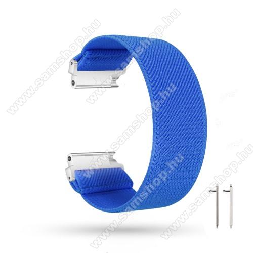 SAMSUNG Galaxy Watch 46mm (SM-R800NZ)Okosóra szíj - szövet, sztreccses, 145mm hosszú, 22mm széles, 160mm-től 210mm-es méretű csuklóig ajánlott - SÖTÉTKÉK - SAMSUNG Galaxy Watch 46mm / Watch GT2 46mm / Watch GT 2e / Gear S3 Frontier / Honor MagicWatch 2 46mm