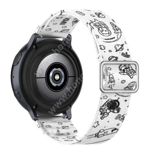 Okosóra szíj - szövet, sztreccses, állítható - UNIVERZUM MINTÁS - 222mm hosszú, 22mm széles - SAMSUNG Galaxy Watch 46mm / Watch GT2 46mm / Watch GT 2e / Galaxy Watch3 45mm / Honor MagicWatch 2 46mm
