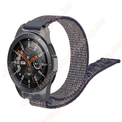 Xiaomi Amazfit GTR 47mmOkosóra szíj - szövet, tépőzáras - 205mm hosszú, 22mm széles - KÉK - SAMSUNG Galaxy Watch 46mm / SAMSUNG Gear S3 Classic / SAMSUNG Gear S3 Frontier / HUAWEI Watch GT / Watch GT 2 46mm /  HUAWEI Watch Magic
