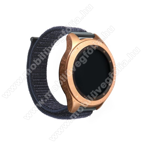 HUAWEI MagicWatch 2 42mm Okosóra szíj - szövet, tépőzáras - FEKETE - 195mm hosszú, 20mm széles - SAMSUNG Galaxy Watch 42mm / Xiaomi Amazfit GTS / HUAWEI Watch GT / SAMSUNG Gear S2 / HUAWEI Watch GT 2 42mm / Galaxy Watch Active / Active  2 / Galaxy Gear Sport