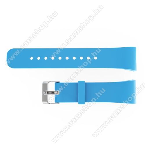 SAMSUNG Gear Fit 2 Pro (SM-R365)Okosóra szíj - VILÁGOSKÉK - szilikon, 20cm hosszú és 2cm széles - SAMSUNG Gear Fit 2 SM-R360 / Samsung Gear Fit 2 Pro SM-R365 - 128.29mm + 72.07mm hosszú