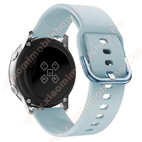 Huami Amazfit Youth Edition LiteOkosóra szíj - VILÁGOSKÉK - szilikon - 83mm + 116mm hosszú, 20mm széles, 130mm-től 205mm-es méretű csuklóig ajánlott - SAMSUNG Galaxy Watch 42mm / Xiaomi Amazfit GTS / SAMSUNG Gear S2 / HUAWEI Watch GT 2 42mm / Galaxy Watch Active / Active 2