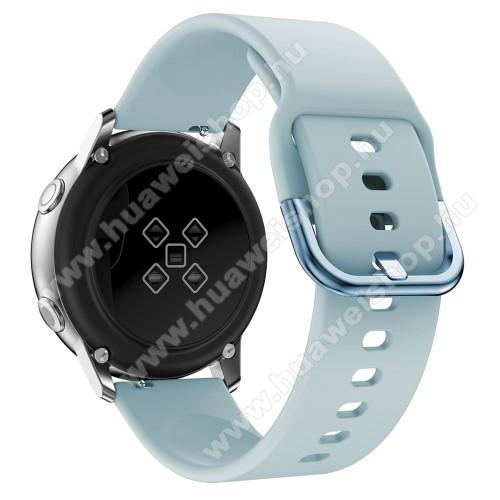 HUAWEI Honor MagicWatch 2 42mmOkosóra szíj - VILÁGOSKÉK - szilikon - 83mm + 116mm hosszú, 20mm széles, 130mm-től 205mm-es méretű csuklóig ajánlott - SAMSUNG Galaxy Watch 42mm / Xiaomi Amazfit GTS / SAMSUNG Gear S2 / HUAWEI Watch GT 2 42mm / Galaxy Watch Active / Active 2