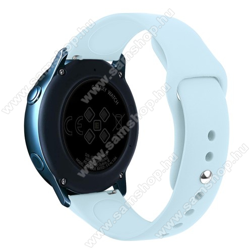 SAMSUNG Galaxy Watch Active2 40mm Okosóra szíj - VILÁGOSKÉK - szilikon - 95mm + 130mm hosszú, 20mm széles, 170mm-től 225mm-es méretű csuklóig ajánlott - SAMSUNG Galaxy Watch 42mm / Xiaomi Amazfit GTS / SAMSUNG Gear S2 / HUAWEI Watch GT 2 42mm / Galaxy Watch Active / Active 2