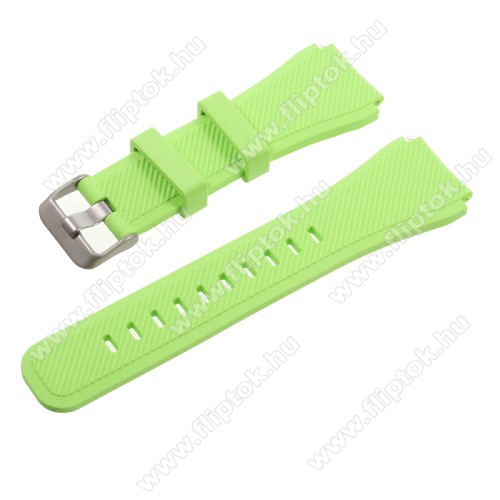 Xiaomi Watch ColorOkosóra szíj - ZÖLD - szilikon - 90 + 103mm hosszú, 22mm széles - SAMSUNG Galaxy Watch 46mm / SAMSUNG Gear S3 Classic / SAMSUNG Gear S3 Frontier