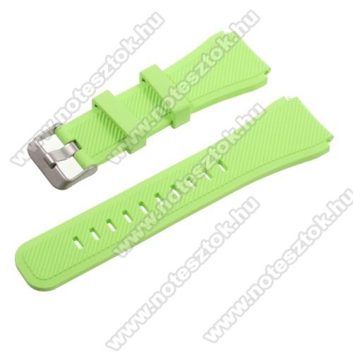 Xiaomi Mi Watch (FOR GLOBAL MARKET)Okosóra szíj - ZÖLD - szilikon - 90 + 103mm hosszú, 22mm széles - SAMSUNG Galaxy Watch 46mm / SAMSUNG Gear S3 Classic / SAMSUNG Gear S3 Frontier
