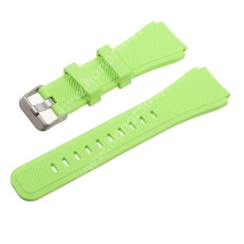 HUAWEI Watch GT 2 Pro 46mm Okosóra szíj - ZÖLD - szilikon - 90 + 103mm hosszú, 22mm széles - SAMSUNG Galaxy Watch 46mm / SAMSUNG Gear S3 Classic / SAMSUNG Gear S3 Frontier