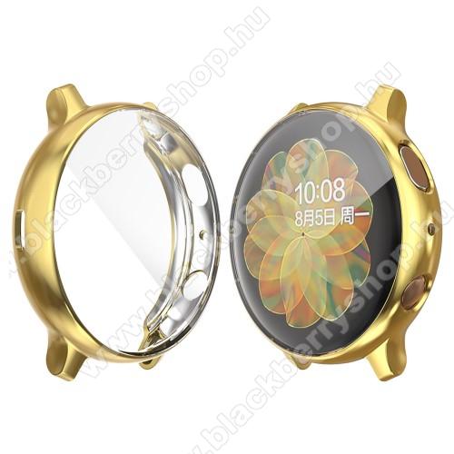 Okosóra szilikon védő tok / keret - ARANY - Szilikon előlapvédő is - SAMSUNG Galaxy Watch Active2 44mm